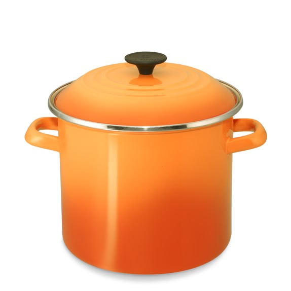 Le Creuset Enameled Steel Stock Pot, 8-Qt., Flame