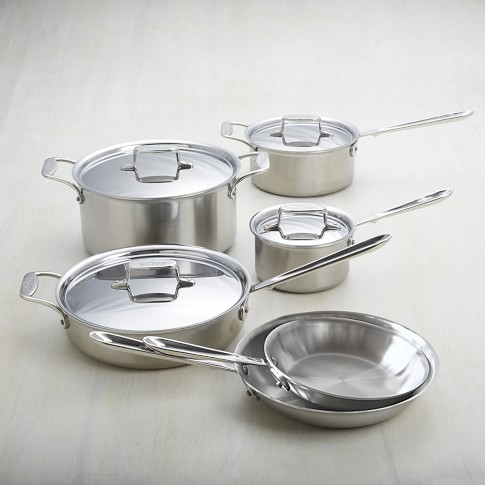 All-Clad d5 Brushed Stainless-Steel 10-Piece Set