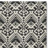 Ikat Medallion Indoor/Outdoor Black/Egret Rug Swatch