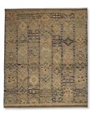 Hand-Knotted Souk Moroccan Rug, 6' X 9', Blue/Orange