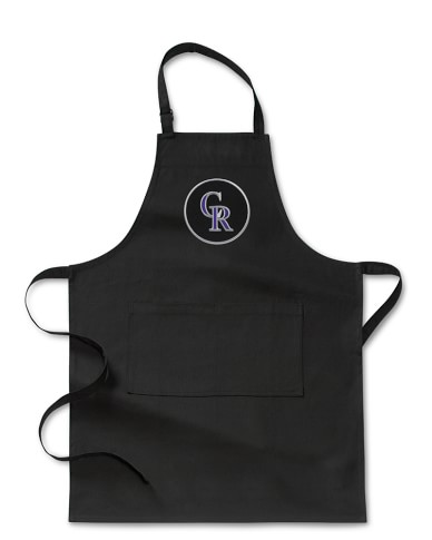MLB™ Colorado Rockies, Adult Apron, Black