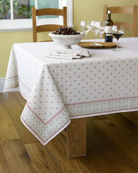 "Marseille Tablecloth, Khaki, 70"" x 70"""
