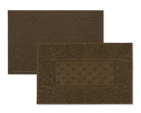 Indoor & Outdoor Mat Set, Dark Brown