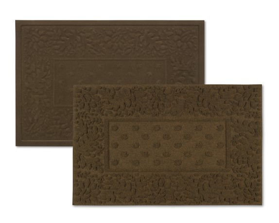 Indoor & Outdoor Mat Set, Dark Brown