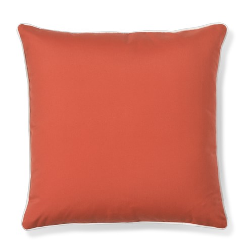 Outdoor Solid Pillow Cover with Piping, Melon