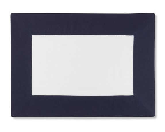 Wide Border Place Mat, Navy