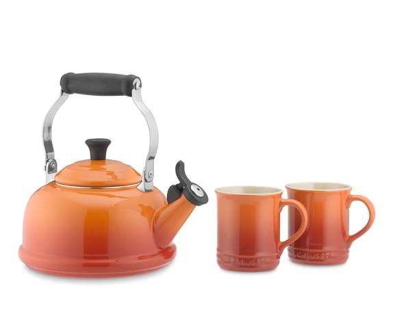 Le Creuset Tea Kettle & Mug Set, Flame