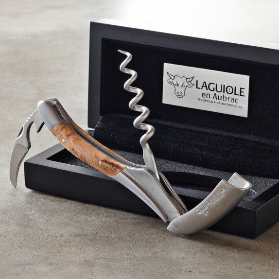 Laguiole En Aubrac Waiters Corkscrew Wine Opener, Juniper