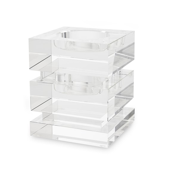 Crystal Candle Holder, Square