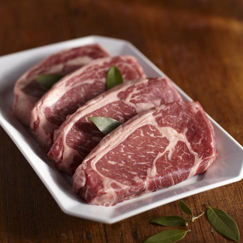 Double R Ranch Co. Rib-Eye Steaks, Set of 4