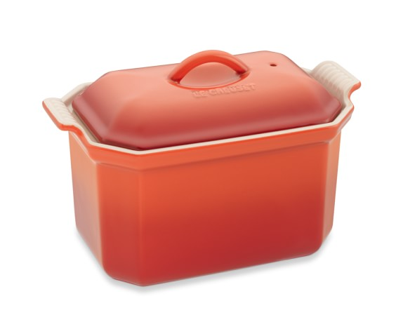 Le Creuset Heritage Stoneware Pâté Terrine with Press, Flame