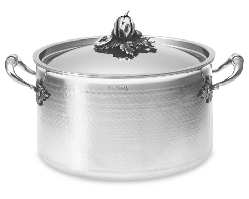 Ruffoni Opus Prima Hammered Stainless-Steel Stockpot