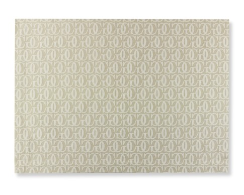 Williams-Sonoma Monogram Jacquard Place Mats, Set of 4, Bright White/Flax