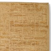 Greek Key Wool/Jute Rug Swatch, Textured