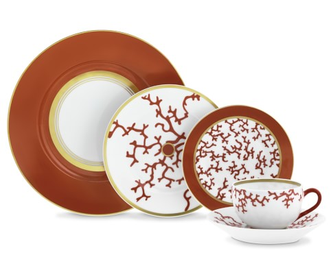 Raynaud Cristobal 5-Piece Place Setting, Coral