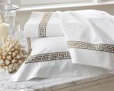 Classic Greek-Key Bedding, Cases, Pair, Standard, Espresso