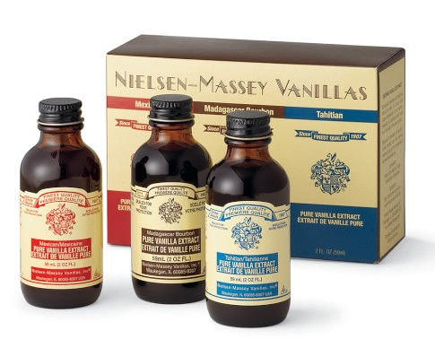 Nielsen-Massey World Vanillas, Madagascar, Tahitian, Mexican, Set of 3