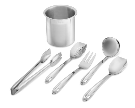 All-Clad Cook Serve Stainless-Steel Tools, Set of 6
