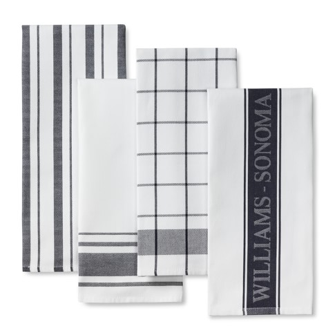 Williams-Sonoma Assorted Kitchen Towels, Set of 4, Navy