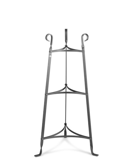 Enclume Cookware Stand, 3-Tier, Hammered Steel