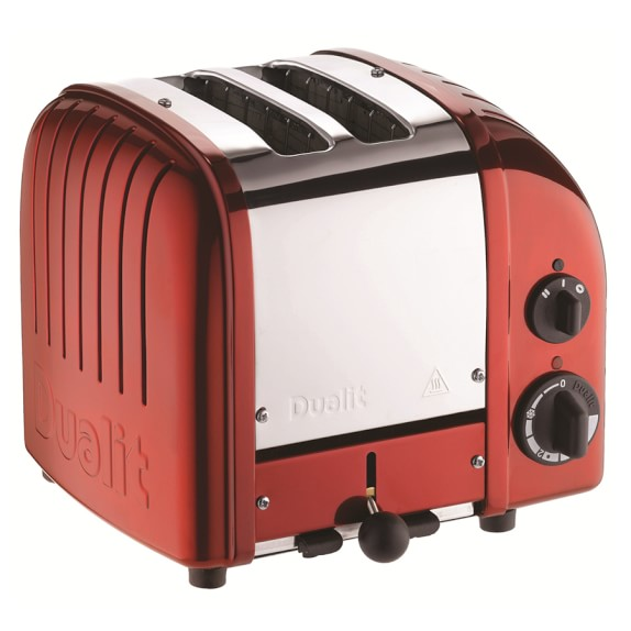 Dualit New Generation Classic 2-Slice Toaster, Apple Candy Red