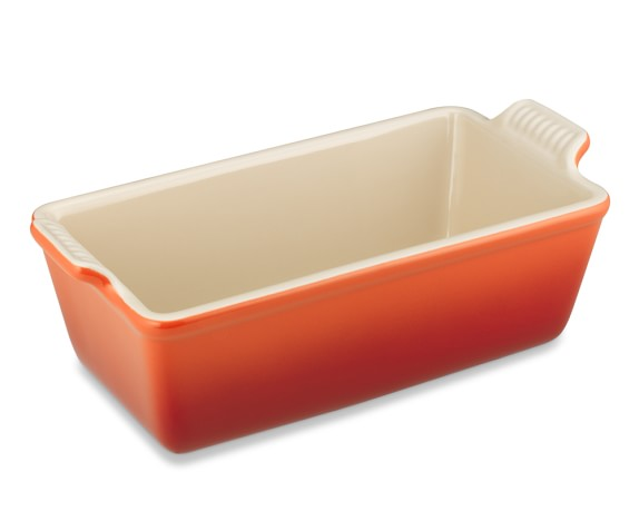Le Creuset Heritage Stoneware Loaf Pan, Small, Flame