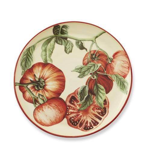 Botanical Tomato Salad Plates, Set Of 4, Brandywine