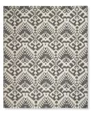 Ikat Medallion Indoor/Outdoor Rug, 8' X 10', Gray/Egret