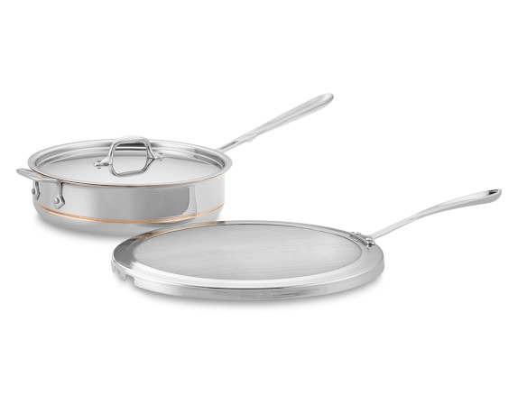 All-Clad Copper Core 4-Qt. Deep Sauté Pan with Splatter Screen