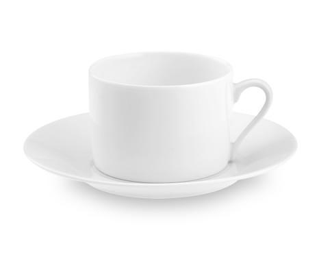 Apilco Tuileries Porcelain Cups & Saucers, Set of 4
