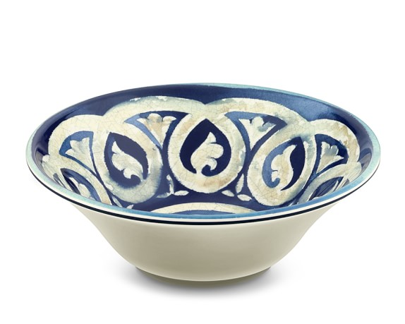 Blue Byzantine Melamine Serving Bowl