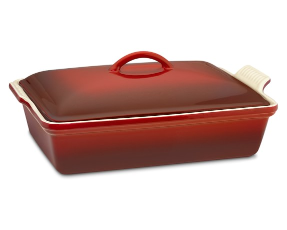 Le Creuset Heritage Stoneware Rectangular Covered Casserole, Red