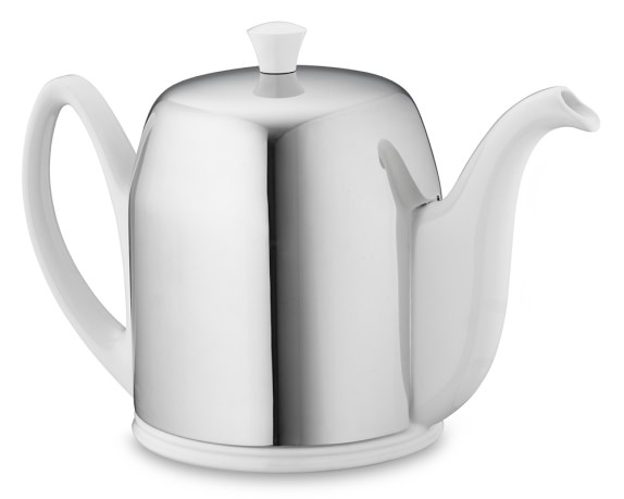 Insulated Teapot, 6-Cup, Stainless-Steel