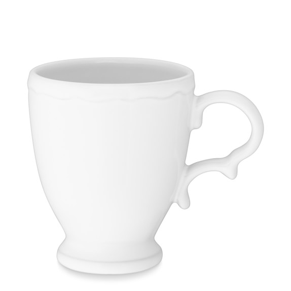 Alexia Mugs, Set of 4, White