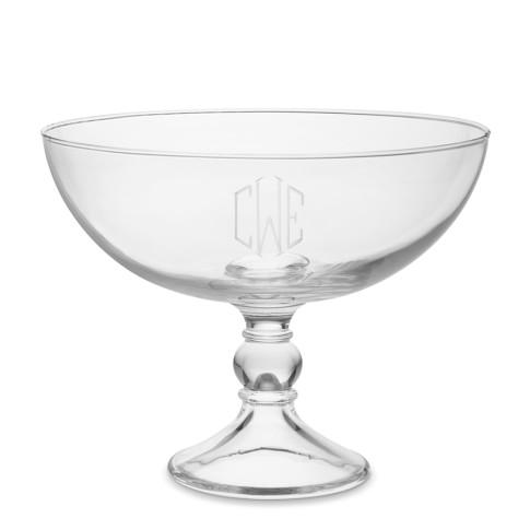 Monogrammed Fruit Bowl, Triple-Initial