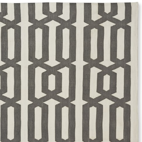 Graphic Link Indoor/Outdoor Rug Swatch, Gray/Egret