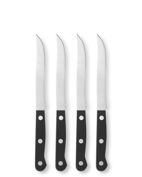 Zwilling J.A. Henckels Twin 4-Piece Steak Knife Set, Black