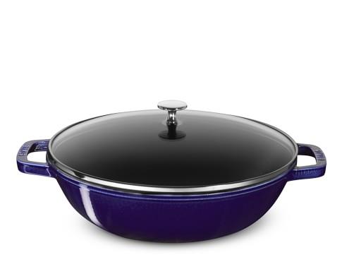 Staub Cast-Iron Perfect Pan, Sapphire Blue