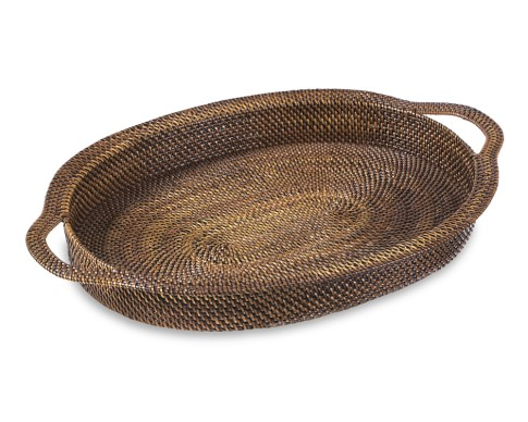 Nito Oval Serving Tray with Handles