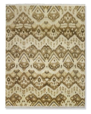 Hand-Knotted Baku Ikat Rug, 6' X 9', Tan