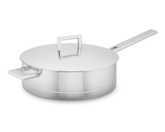 Demeyere John Pawson Stainless-Steel Sauté Pan with Lid, 4-Qt.