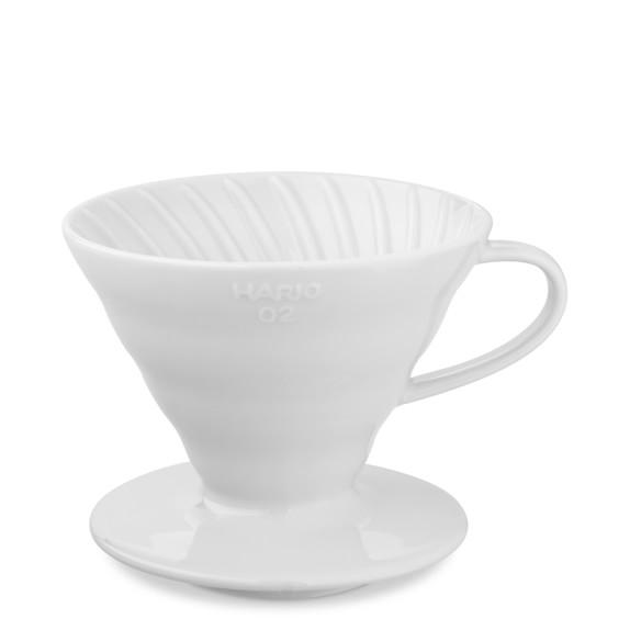 Hario V60 Ceramic Pour-Over Coffee Dripper, White