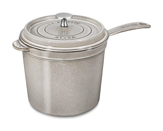 Staub Cast-Iron Saucepan, 3-Qt., Graphite