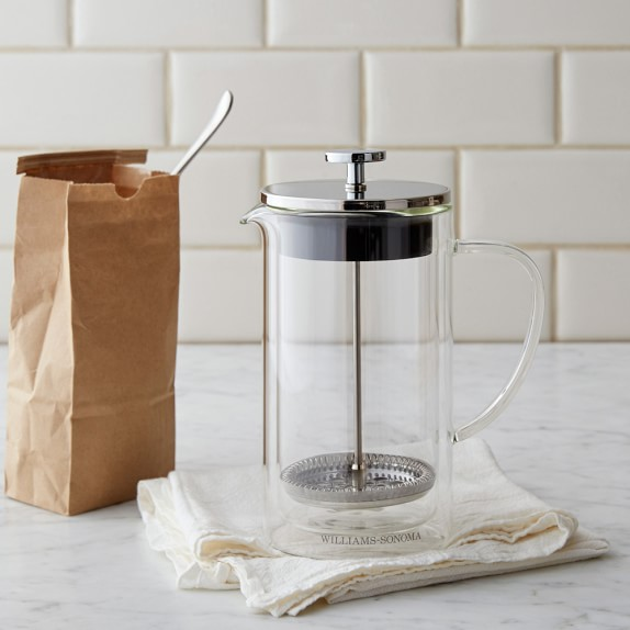 Williams sonoma double wall glass french press williams sonoma - Williams sonoma coffee press ...