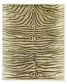 Hand-Knotted Zebra Rug, 6' X 9', Beige/Chocolate