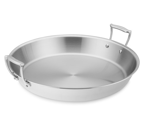 All-Clad Tri-Ply Stainless-Steel Paella Pan, 16
