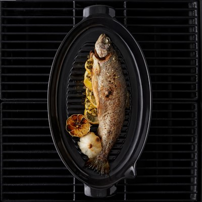 Emile henry fish marinator grill tray williams sonoma for Fish grill beverly