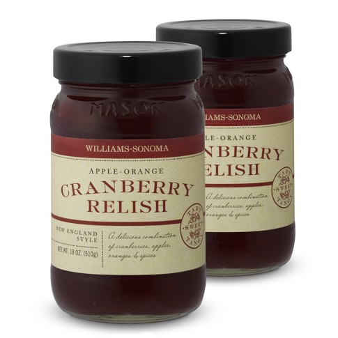 Williams-Sonoma Apple-Orange Cranberry Relish, Set of 2