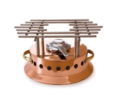 Mauviel Copper Heater with Alcohol Burner