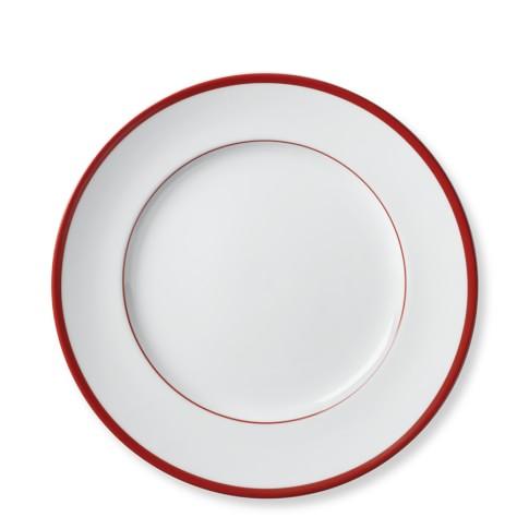 Brasserie Red-Banded Porcelain Salad Plates, Set of 4